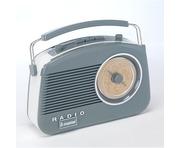 Steepletone 50's Style Brighton Radio Grey