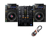 Pioneer DJ CDJ-3000 (x2) + DJM-450 w/ Cable