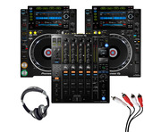 Pioneer CDJ-2000 NXS2 (Pair) + DJM-900 NXS2 w/ Headphones + Cable