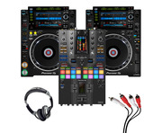 Pioneer CDJ-2000 NXS2 (Pair) + DJM-S11 SE w/ Headphones + Cable