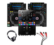 Pioneer CDJ-2000 NXS2 (Pair) + DJM-S9 w/ Headphones + Cable