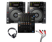 Pioneer CDJ-850 (Pair) + DJM-900 NXS2 w/ Headphones + Cable