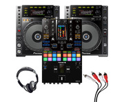 Pioneer CDJ-850 (Pair) + DJM-S11 SE w/ Headphones + Cable