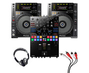 Pioneer CDJ-850 (Pair) + DJM-S9 w/ Headphones + Cable
