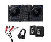 Pioneer DDJ-FLX6 + S-DJ50X-K w/ Headphones + Cable