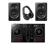 Pioneer DDJ-400 with DM-40 Monitors and HDJ-X5 Headphones