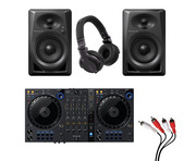 Pioneer DDJ-FLX6 + DM-40 w/ Headphones + Cable