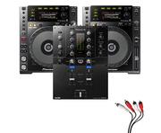 Pioneer CDJ850 Black & DJM-S3 Package