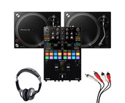 Pioneer PLX-500 (Pair) + DJM-S7 w/ Headphones + Cable