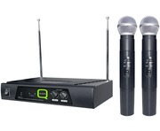 Q-Audio QWM 11 Twin Channel Dual Wireless Mic System