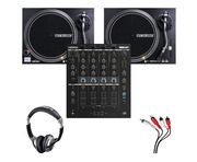 Reloop RMX-44 BT + RP-4000 MK2 (Pair) w/ Headphones + Cable
