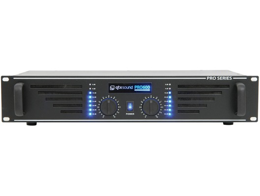 QTX Sound PRO600 Power Amplifier Black