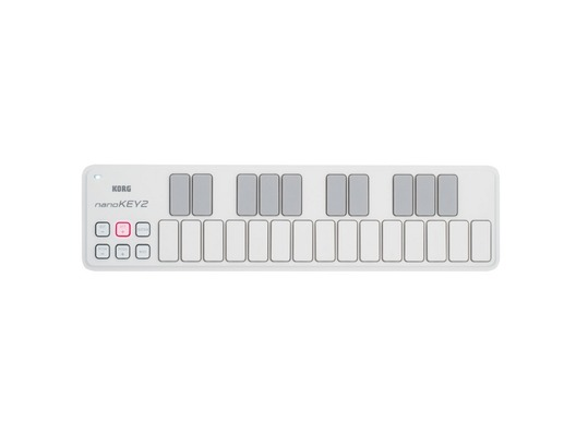 Korg NanoKey 2 Slim Line USB Keyboard White
