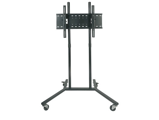 Soundlab Black Trolley With Universal Flat Screen TV Bracket