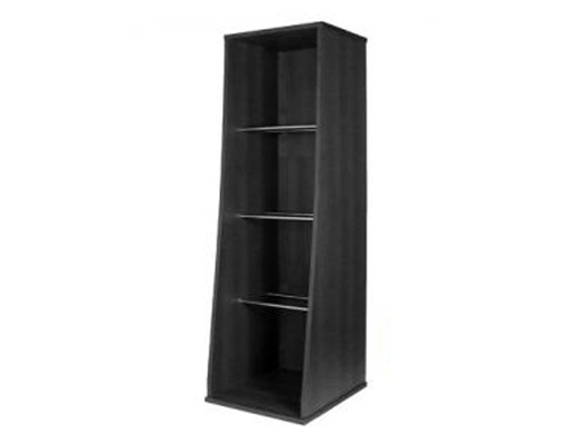 Sefour Vinyl Storage Tower Black
