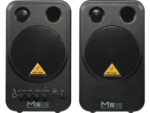 Behringer MS16 Active Studio Monitor Speakers