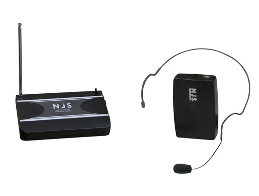 NJS 174.1 MHz VHF Head Band Radio Microphone System