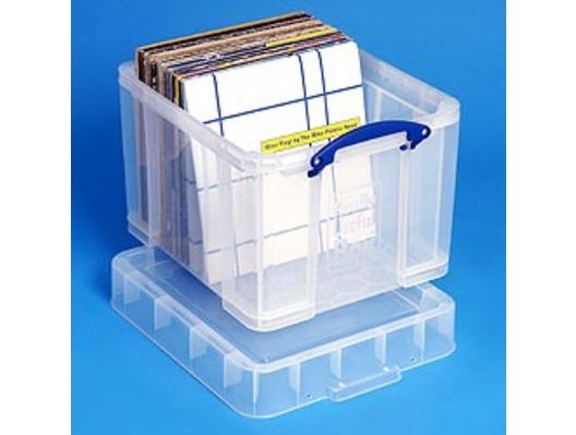 35 Litre XL Really Useful Box Clear 95 LP Vinyl Storage