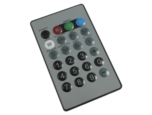 LEDJ I.R. Remote For LEDJ Quad Colour Fixtures