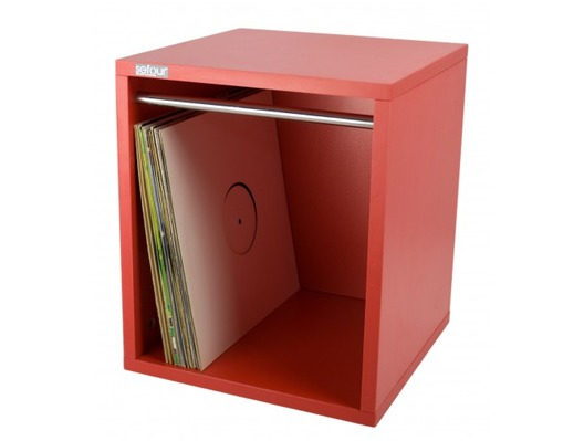 Sefour Vinyl Lp Storage Box 115 Records Reverb Red