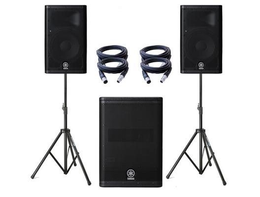 Yamaha DXR8 Speakers & DXS15 Sub