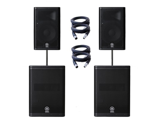 Yamaha DXR8 Speakers & DXS15 Subs