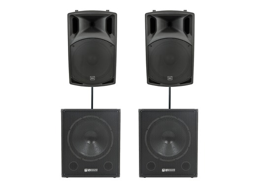 QTX Sound QX15A Speakers & QT15SA Subwoofers