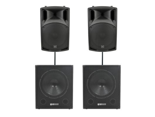 QTX Sound QX15A Speakers & QT18SA Subwoofers