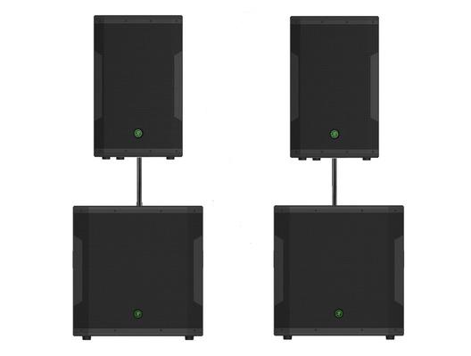 Mackie SRM550 Speakers & SRM1850 Subs Sound System