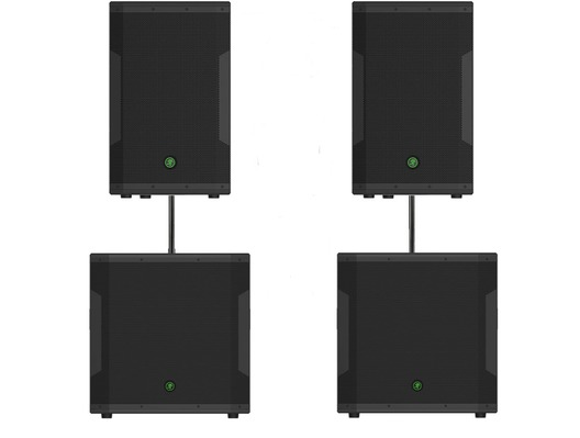Mackie SRM650 Speakers & SRM1850 Subs Sound System