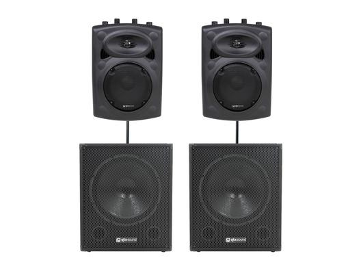 QTX Sound QR8K Speakers & QT15SA Subs Package