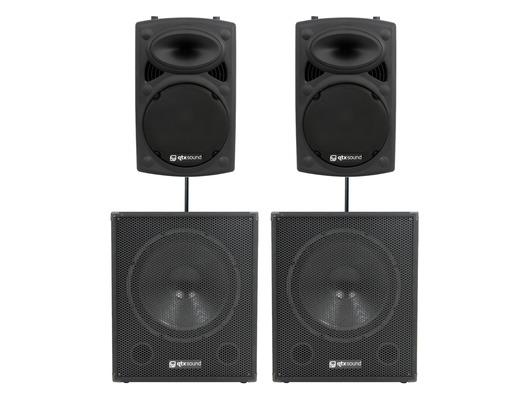 QTX Sound QR12K Speakers & QT18SA Subs Package