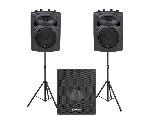 QTX Sound QR8K Speakers & QT15SA Sub PA Package