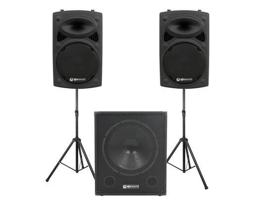 QTX Sound QR12K Speakers & QT18SA Sub Package