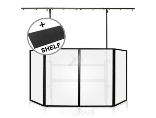 Gorilla DJB300  DJ Booth With Carpet Shelf