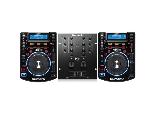 Numark NDX500 & Numark M101 USB Black Mixer Package
