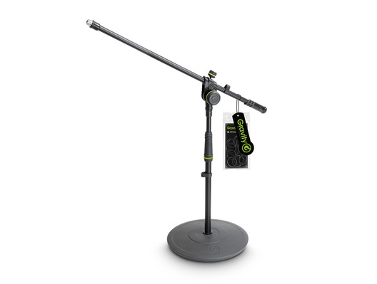Gravity GMS2221B Short Mic Stand with 2-Point Adjustment Boom