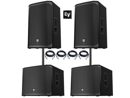 2x Electro-Voice EKX-15P Speakers & 2x EKX-18SP Subwoofers