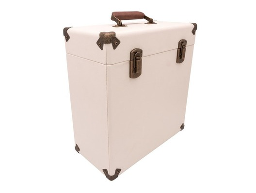"GPO 12"" Vinyl Case Cream/Tan"