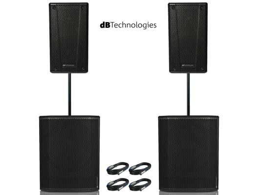 2x db Technologies B-Hype 12 Speakers & 2x Sub 615 Package