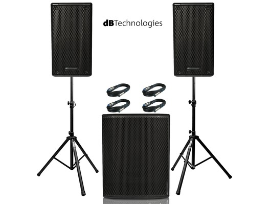 2x db Technologies B-Hype 12 Speakers with Sub 618
