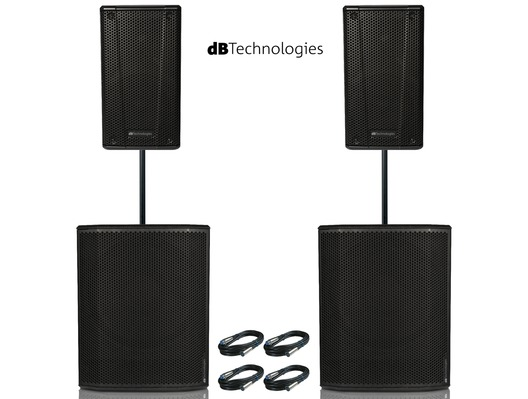 2x db Technologies B-Hype 12 Speakers & 2x Sub 618 Package