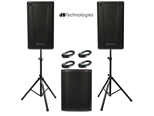 2x db Technologies B-Hype 15 Speakers with Sub 615