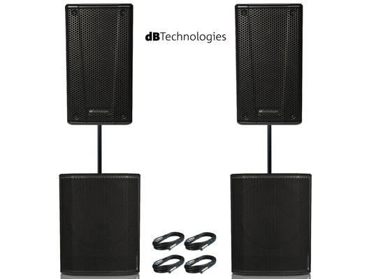 2x db Technologies B-Hype 15 Speakers & 2x Sub 615 Package