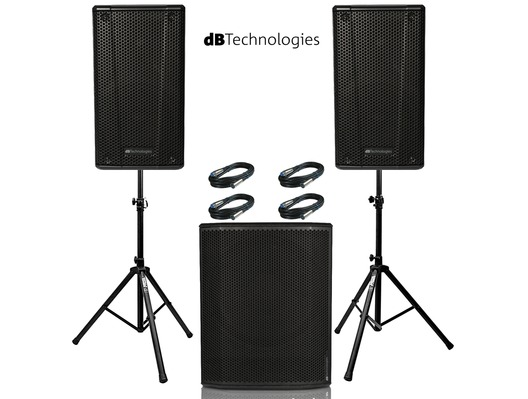 2x db Technologies B-Hype 15 Speaker with Sub 618