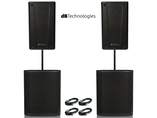 2x db Technologies B-Hype 15 Speaker with 2x Sub 618