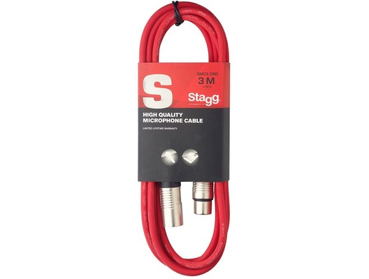STAGG Male XLR To Female XLR Microphone Lead 3 Metre