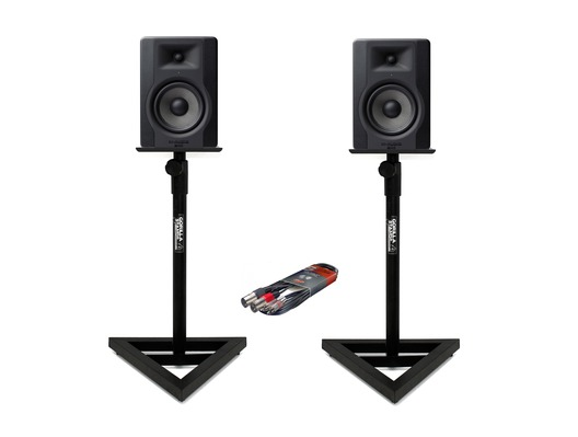 M-Audio BX5 D3 Monitors with Stands & Cable