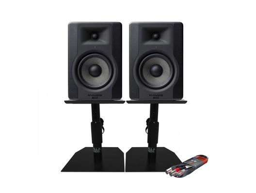 M-Audio BX5 D3 Monitors with Desktop Stands & Cable