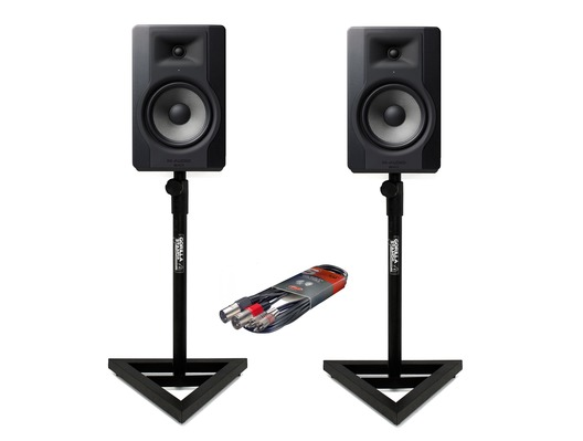 M-Audio BX8 D3 Monitors with Stands & Cable